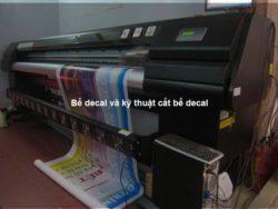 Bế decal và kỹ thuật cắt bế decal
