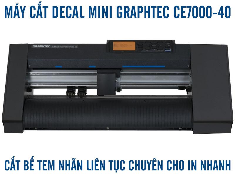 Máy cắt decal mini A3 A4 bế tem nhãn tự động Graphtec CE7000-40 cho nhà in nhanh